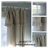 Úžitkový textil - Lněný jemný přírodní shabby závěs (š.135xd.160cm) - 7597976_