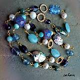 Z lásky k dúhe - dlhý náhrdelník s mušľami paua
