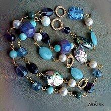 Náhrdelníky - Z lásky k dúhe - dlhý náhrdelník s mušľami paua - 7598858_