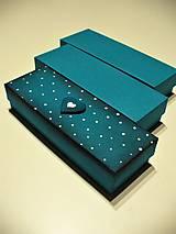 Krabičky - petrolejová krabička - 7598816_