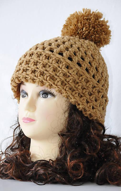7b4c0e117 Dámska háčkovaná čiapka s brmbolcom / JanaHag - SAShE.sk - Handmade ...