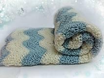 Textil - Háčkovaná deka Obláčik - 7597855_
