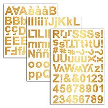 Polotovary - STA45 Penové samolepky Abeceda v zlatej farbe - 7597111_
