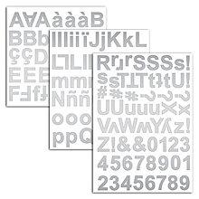 Polotovary - STA46 Penové samolepky Abeceda v striebornej farbe - 7597124_