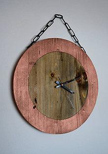 Hodiny - okrúhle medené hodiny - 7598076_