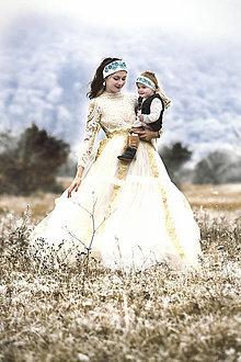 Šaty - Šaty so zlatou stuhou - 7596824_