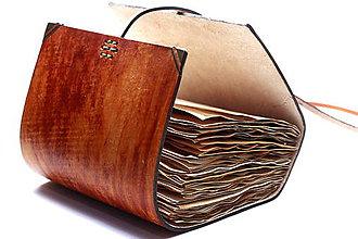 Papiernictvo - Kožený zápisník KOPI - 7599044_