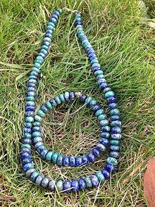 Sady šperkov - Chryzokol - sada náhrdelník a náramok - 7596572_
