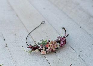 Ozdoby do vlasov - Jemný kvetinový polvenček