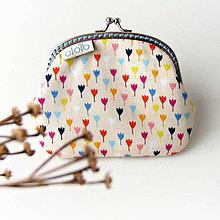 Peňaženky - Peňaženka Farebné tulipány - 7597204_