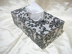 Krabičky - BOX Čierna krajka - 7596731_