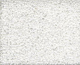 Korálky - Miyuki Round Nr.420 White Opaque Luster 15/0 (5g) - 7598108_