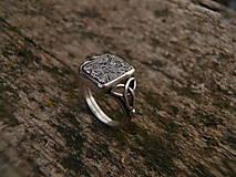 Šperky - Pánsky prsteň z damaskom - 7600214_