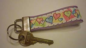 Kľúčenky - kľúčenka - srdiečka - 7600586_