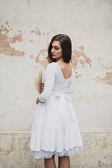 Šaty - Svatební bambusové šaty s výstřihem na zádech a kapsamiLa novia - 7599534_