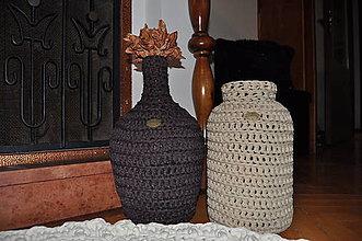 Dekorácie - Váza - svietnik Café au Lait - 7600353_