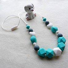 Detské doplnky - Silikónový dojčiaci nosiaci kojaci náhrdelník Maťko - 7600271_