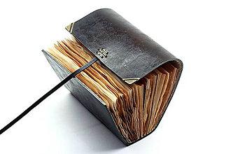 Papiernictvo - Kožený zápisník JAMAI - 7599357_