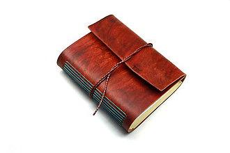 Papiernictvo - Zápisník z pravej kože VANA PUNI - 7599373_
