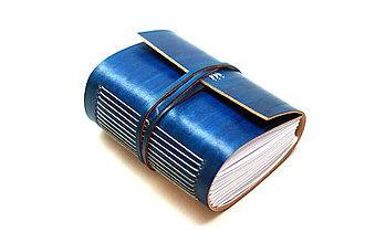 Papiernictvo - Zápisník z pravej kože MEKAM - 7599395_