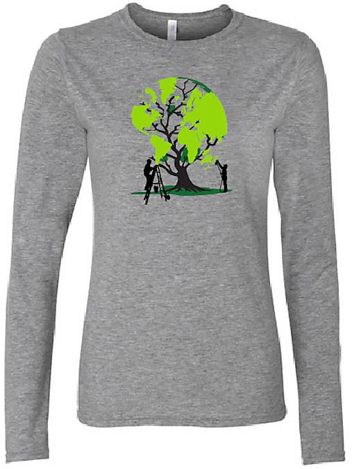 4e2db9b95ab3 Tričko DR strom zeme sivé   treeco - SAShE.sk - Handmade Tričká
