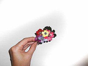 Náramky - Náramok color flowers - 7601506_