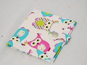 Peňaženky - Malá detská peňaženka so sovičkami - 7601237_