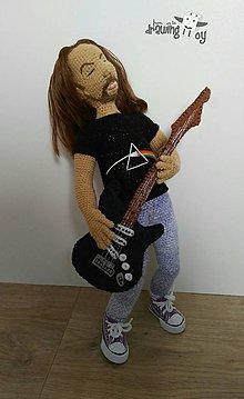 Hračky - Personalizovaná postavička - David Gilmour z Pink Floyd za mlada - 7602357_
