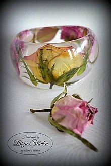 Náramky - Náramok Romantická ruža (2103 A) - 7601293_