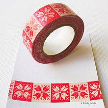 Papier - papierová washi páska Vianoce I, 15 mm x 10 m - 7601676_