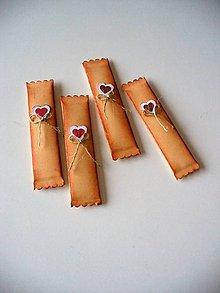 """Darčeky pre svadobčanov - svadobná žuvačka """"žíhaná"""" - 7601855_"""