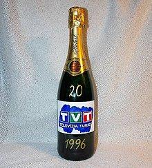 Nádoby - Darčeková fľaša k 20. výročiu TVT - 7601187_