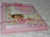 Papiernictvo - Leporelo minialbum pre dievčatko - 7601744_