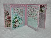 Papiernictvo - Leporelo minialbum pre dievčatko - 7601748_