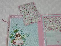 Papiernictvo - Leporelo minialbum pre dievčatko - 7601752_