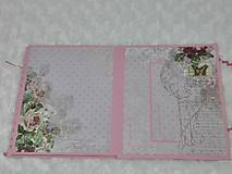 Papiernictvo - Leporelo minialbum pre dievčatko - 7601753_