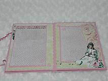 Papiernictvo - Leporelo minialbum pre dievčatko - 7601755_