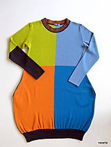 Šaty - DIVA - čtyřbarevné svetrošaty s kapsami - 7601224_