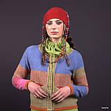 Svetre/Pulóvre - DILMAH-pestrý svetr s kapsami a tibetským vzorem - 7601241_