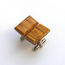 Šperky - Špaltované bukové obdĺžničky - 7602502_