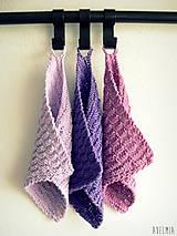 ručne pletené žinky - fialkové