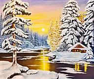 Obrazy - Zasnežená krajina - 7603949_