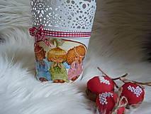 Svietidlá a sviečky - Anjelský kvetináč - 7603311_