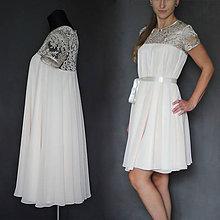 Tehotenské oblečenie - Tehotenské koktejlové šaty rôzne farby  - 7603136_