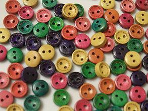 Galantéria - Malé drevené gombíky - 10mm - 7603518_