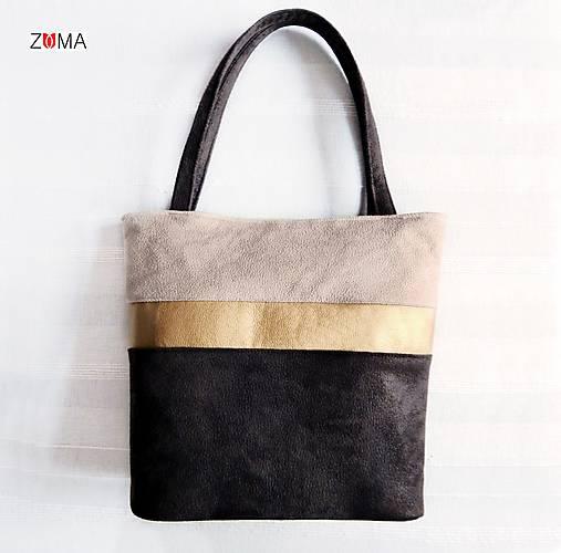 Kabelky - ALEX Gold Stripe kabelka na plece - 7603892_