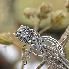 Iné šperky - Krištáľová gerbera - spona do vlasů - 7604478_