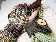 Šál-nákrčník + bezprstové rukavice