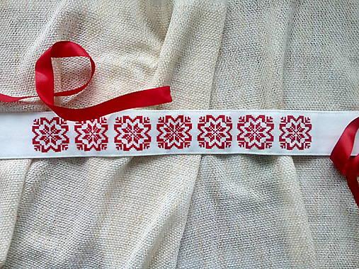 433bf82ee Ľudový vyšívaný opasok Červený / Kreanossa - SAShE.sk - Handmade Opasky