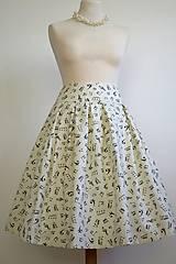 Sukne - sukňa s notami - 7604765_